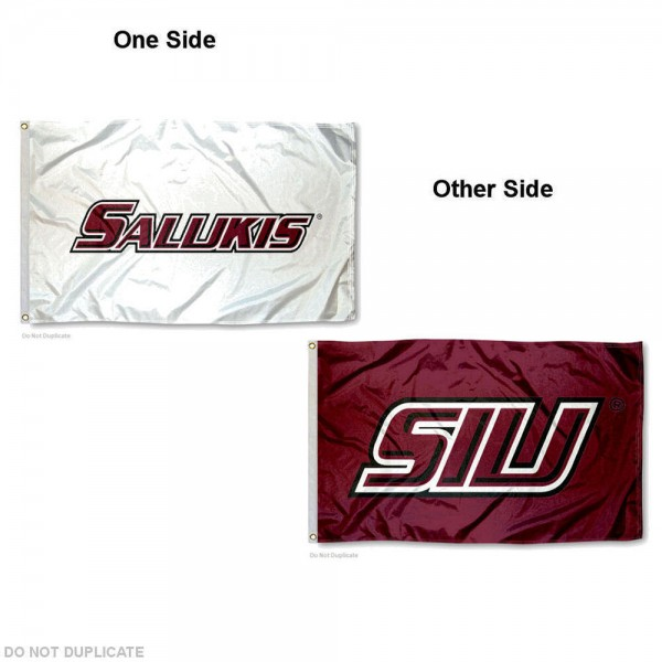 Southern Illinois Salukies Small 2'x3' Flag measures 2x3 feet, is made of thick polyester, offers double stitched flyends, has two metal grommets, and offers double sided printed Southern Illinois Salukies logos, letters, and insignias. Our 2x3 foot flag is Officially Licensed by the selected university.