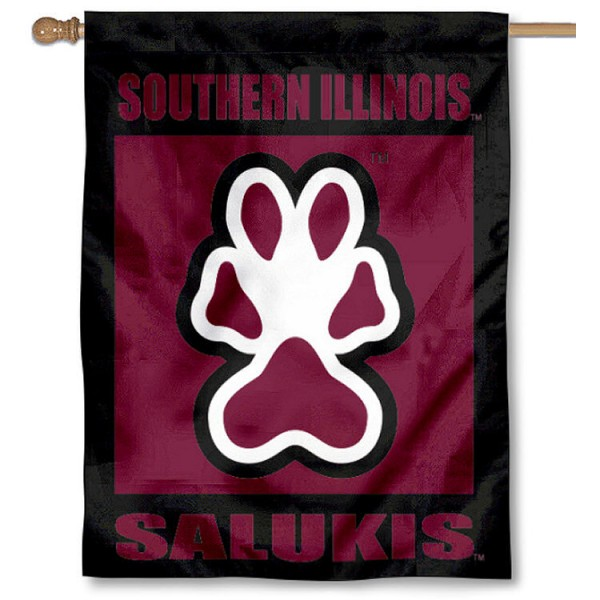 Southern Illinois University House Flag is a vertical house flag which measures 30x40 inches, is made of 2 ply 100% polyester, offers dye sublimated NCAA team insignias, and has a top pole sleeve to hang vertically. Our Southern Illinois University House Flag is officially licensed by the selected university and the NCAA