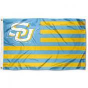 Southern Jaguars Light Blue American Stripes Flag