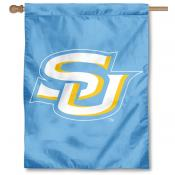 Southern Jaguars Light Blue Double Sided House Flag