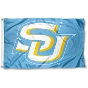 Southern Jaguars Light Blue SU Logo Flag