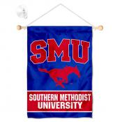 Southern Methodist Mustangs Banner with Suction Cup