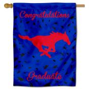 Southern Methodist Mustangs Congratulations Graduate Flag