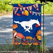 Southern Methodist Mustangs Fall Football Autumn Leaves Decorative Garden Flag
