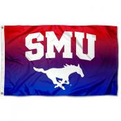Southern Methodist Mustangs Gradient Ombre Flag