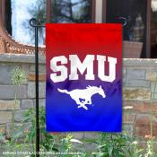 Southern Methodist Mustangs Gradient Ombre Logo Garden Flag