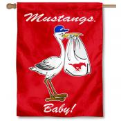 Southern Methodist Mustangs New Baby Flag