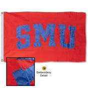 Southern Methodist Mustangs Nylon Embroidered Flag