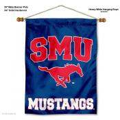 Southern Methodist Mustangs Wall Banner