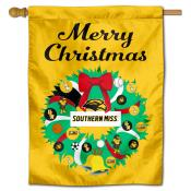Southern Miss Eagles Happy Holidays Banner Flag