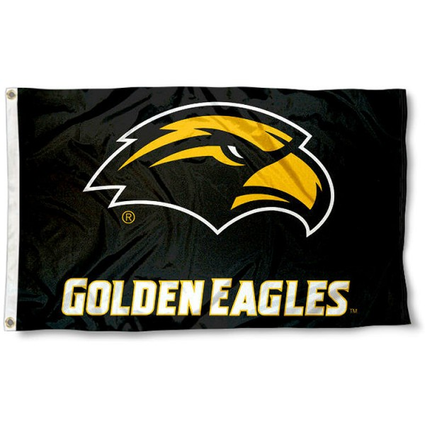 Southern Miss Eagles New Logo Flag measures 3x5 feet, is made of 100% polyester, offers quadruple stitched flyends, has two metal grommets, and offers screen printed NCAA team logos and insignias. Our Southern Miss Eagles New Logo Flag is officially licensed by the selected university and NCAA.