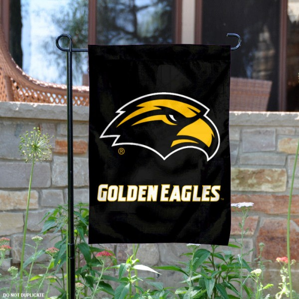 Southern Miss New Logo Garden Flag is 13x18 inches in size, is made of 2-layer polyester, screen printed university athletic logos and lettering, and is readable and viewable correctly on both sides. Available same day shipping, our Southern Miss New Logo Garden Flag is officially licensed and approved by the university and the NCAA.