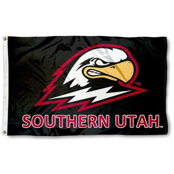 Southern Utah University 3x5 Flag is made of 100% nylon, offers quad stitched flyends, measures 3x5 feet, has two metal grommets, and is viewable from both side with the opposite side being a reverse image. Our Southern Utah University 3x5 Flag is officially licensed by the selected college and NCAA.