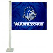 Southern Wesleyan Warriors Car Window Flag