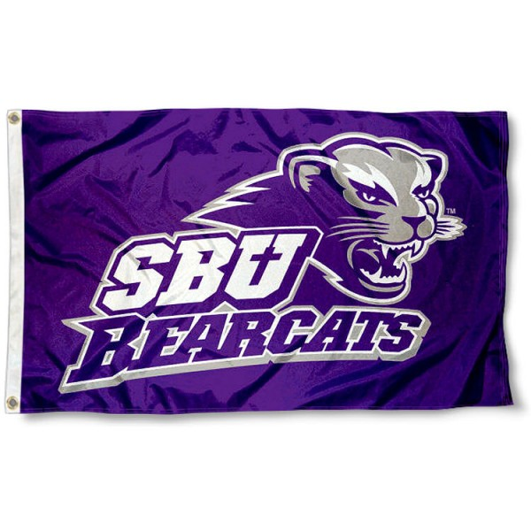 Southwest Baptist University Flag measures 3'x5', is made of 100% poly, has quadruple stitched sewing, two metal grommets, and has double sided Team University logos. Our SBU Bearcats 3x5 Flag is officially licensed by the selected university and the NCAA.