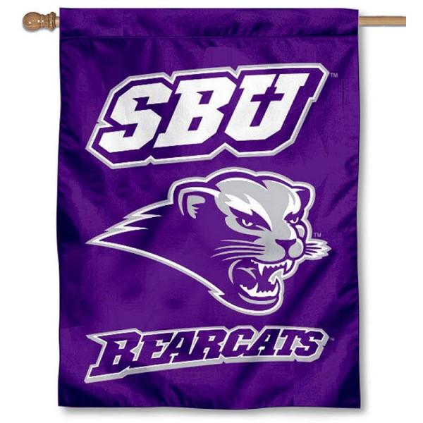 Southwest Baptist University SBU Banner Flag is a vertical house flag which measures 30x40 inches, is made of 2 ply 100% polyester, offers dye sublimated NCAA team insignias, and has a top pole sleeve to hang vertically. Our Southwest Baptist University SBU Banner Flag is officially licensed by the selected university and the NCAA.