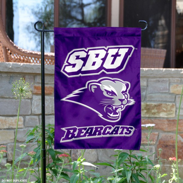 Southwest Baptist University SBU Garden Flag is 13x18 inches in size, is made of 2-layer polyester, screen printed Southwest Baptist University SBU athletic logos and lettering. Available with Same Day Express Shipping, Our Southwest Baptist University SBU Garden Flag is officially licensed and approved by Southwest Baptist University SBU and the NCAA.