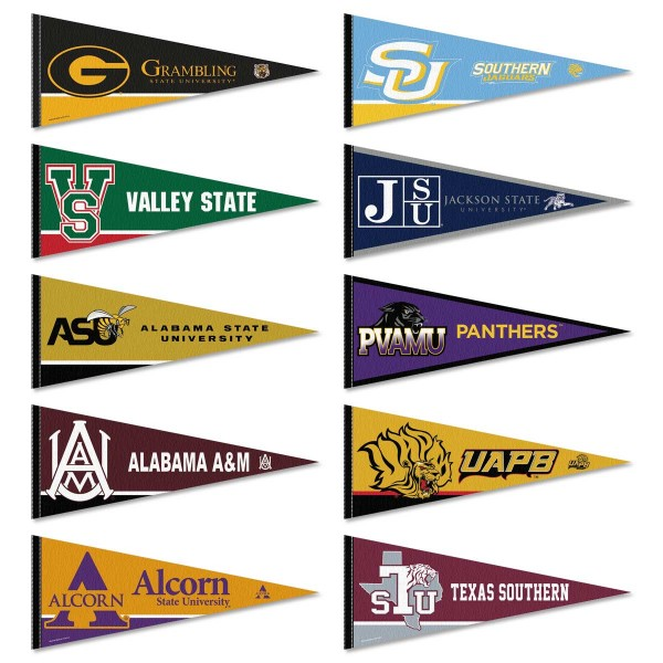 Southwestern Athletic Conference Pennants all SWAC members schools in a Set. Each measures 12x30 inche and all pennants are are approved by the selected college or university.