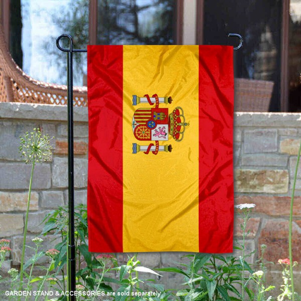 Spain Double Sided Garden Flag is 13x18 inches in size, is made of 2-layer polyester, screen printed logos and lettering, and is viewable on both sides. Available same day shipping, our Spain Double Sided Garden Flag is a great addition to your decorative garden flag selections.