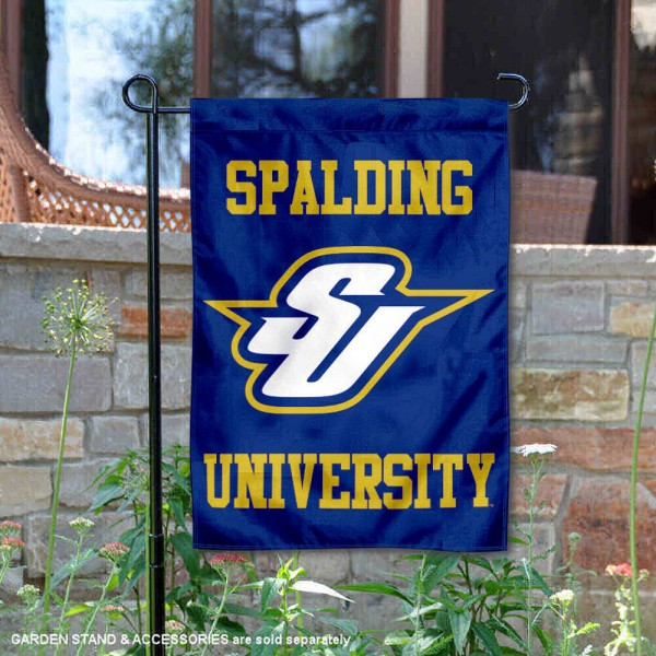 Spalding Golden Eagles Logo Garden Flag is 13x18 inches in size, is made of 2-layer polyester, screen printed university athletic logos and lettering, and is readable and viewable correctly on both sides. Available same day shipping, our Spalding Golden Eagles Logo Garden Flag is officially licensed and approved by the university and the NCAA.