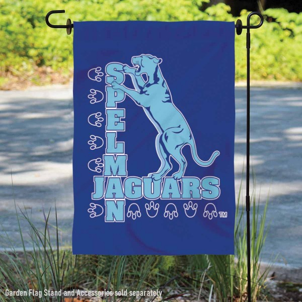Spelman College Garden Flag is 13x18 inches in size, is made of 2-layer polyester, screen printed Spelman College athletic logos and lettering. Available with Same Day Express Shipping, Our Spelman College Garden Flag is officially licensed and approved by Spelman College and the NCAA.