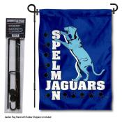 Spelman Jaguars Garden Flag and Pole Stand