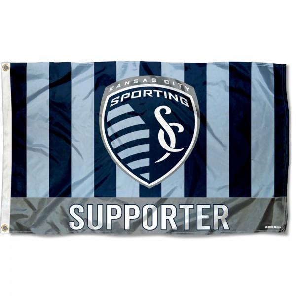 Sporting Kansas City Supporter 3x5 Foot Logo Flag measures 3x5 feet and offers quadruple stitched flyends. Sporting Kansas City Supporter 3x5 Foot Logo Flag is made of polyester, has two metal grommets, and is viewable from both sides with the opposite side being a reverse image. This Sporting Kansas City Supporter 3x5 Foot Logo Flag is Officially Licensed and MLS Approved.