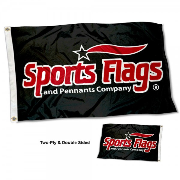 Sports Flags and Pennants Company Logo Flag measures 3'x5', is made of 2 layer 100% polyester, has quadruple stitched flyends for durability, and is readable correctly on both sides. Our Sports Flags and Pennants Company Logo Flag is officially licensed and trademarked.