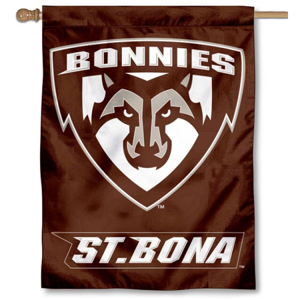 St. Bonaventure Bonnies Double Sided House Flag is a vertical house flag which measures 30x40 inches, is made of 2 ply 100% polyester, offers screen printed NCAA team insignias, and has a top pole sleeve to hang vertically. Our St. Bonaventure Bonnies Double Sided House Flag is officially licensed by the selected university and the NCAA.
