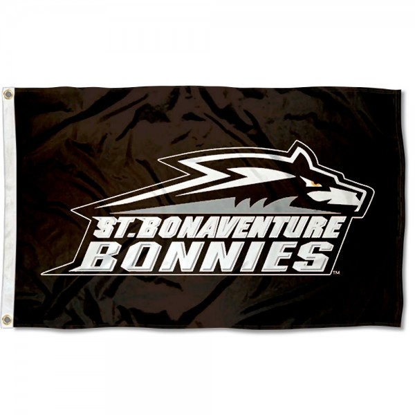 St. Bonaventure Bonnies New Logo Flag measures 3x5 feet, is made of 100% polyester, offers quadruple stitched flyends, has two metal grommets, and offers screen printed NCAA team logos and insignias. Our St. Bonaventure Bonnies New Logo Flag is officially licensed by the selected university and NCAA.