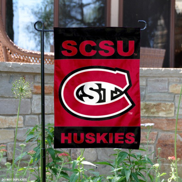 St. Cloud State University Garden Flag is 13x18 inches in size, is made of 2-layer polyester, screen printed St. Cloud State University athletic logos and lettering. Available with Same Day Express Shipping, Our St. Cloud State University Garden Flag is officially licensed and approved by St. Cloud State University and the NCAA.