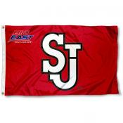 St. John's Red Storm Big East Logo Flag