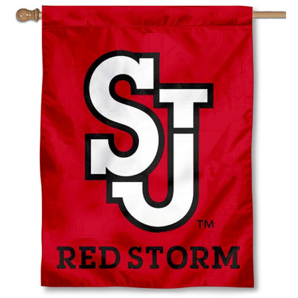 St. Johns University Banner Flag is a vertical house flag which measures 30x40 inches, is made of 2 ply 100% polyester, offers dye sublimated NCAA team insignias, and has a top pole sleeve to hang vertically. Our St. Johns University Banner Flag is officially licensed by the selected university and the NCAA.
