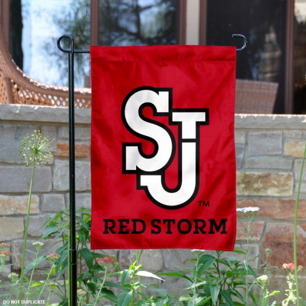 St. Johns University Garden Flag is 13x18 inches in size, is made of 2-layer polyester, screen printed St. Johns University University athletic logos and lettering. Available with Same Day Express Shipping, Our St. Johns University Garden Flag is officially licensed and approved by St. Johns University University and the NCAA.