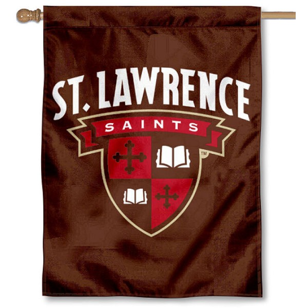 St. Lawrence Saints House Flag is a vertical house flag which measures 30x40 inches, is made of 2 ply 100% polyester, offers screen printed NCAA team insignias, and has a top pole sleeve to hang vertically. Our St. Lawrence Saints House Flag is officially licensed by the selected university and the NCAA.