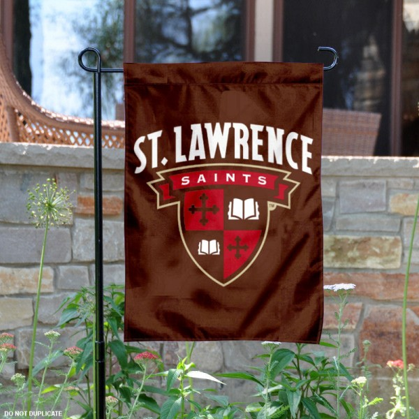 St. Lawrence University Garden Flag is 13x18 inches in size, is made of 2-layer polyester, screen printed university athletic logos and lettering, and is readable and viewable correctly on both sides. Available same day shipping, our St. Lawrence University Garden Flag is officially licensed and approved by the university and the NCAA.