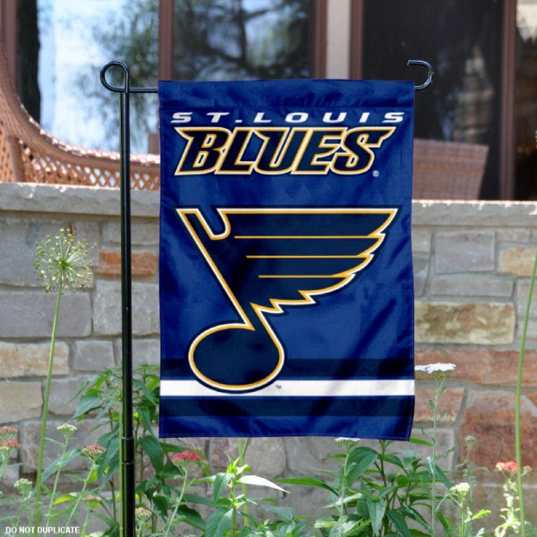 St. Louis Blues Garden Flag is 12.5x18 inches in size, is made of 2-ply polyester, and has two sided screen printed logos and lettering. Available with Express Next Day Ship, our St. Louis Blues Garden Flag is NHL Officially Licensed and is double sided.