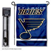 St. Louis Blues Garden Flag and Flagpole Stand