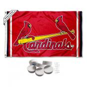 St. Louis Cardinals Banner Flag with Tack Wall Pads