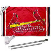St. Louis Cardinals Birds Flag Pole and Bracket Kit