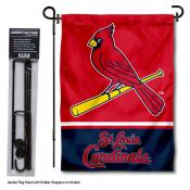 St. Louis Cardinals Logo Garden Flag and Stand