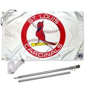 St. Louis Cardinals Vintage Flag Pole and Bracket Kit