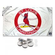 St. Louis Cardinals Vintage Retro Banner Flag with Tack Wall Pads