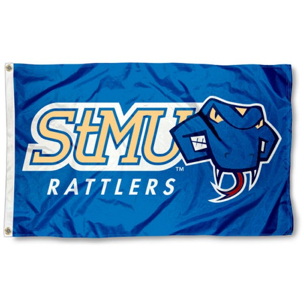 St. Mary's Rattlers Flag is made of 100% nylon, offers quad stitched flyends, measures 3x5 feet, has two metal grommets, and is viewable from both side with the opposite side being a reverse image. Our St. Mary's Rattlers Flag is officially licensed by the selected college and NCAA