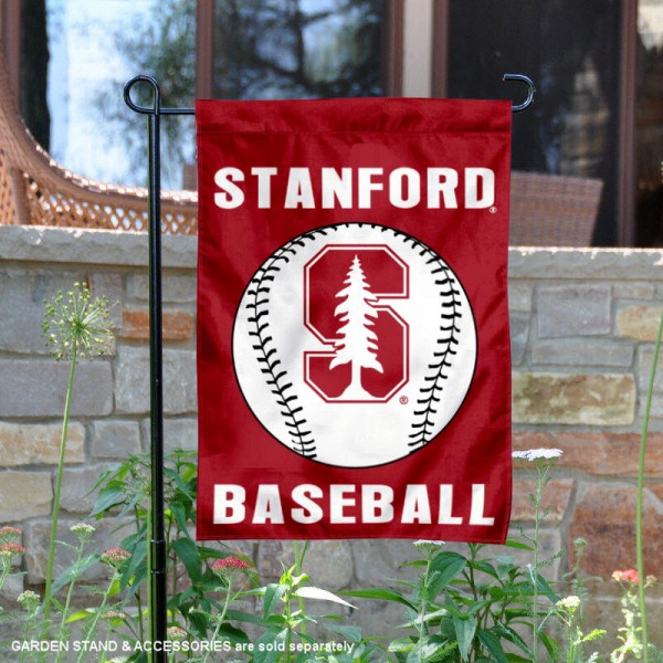 Stanford Cardinal Baseball Team Garden Flag is 13x18 inches in size, is made of 2-layer polyester, screen printed Stanford University Baseball athletic logos and lettering. Available with Express Shipping, Our Stanford Cardinal Baseball Team Garden Flag is officially licensed and approved by Stanford University Baseball and the NCAA.