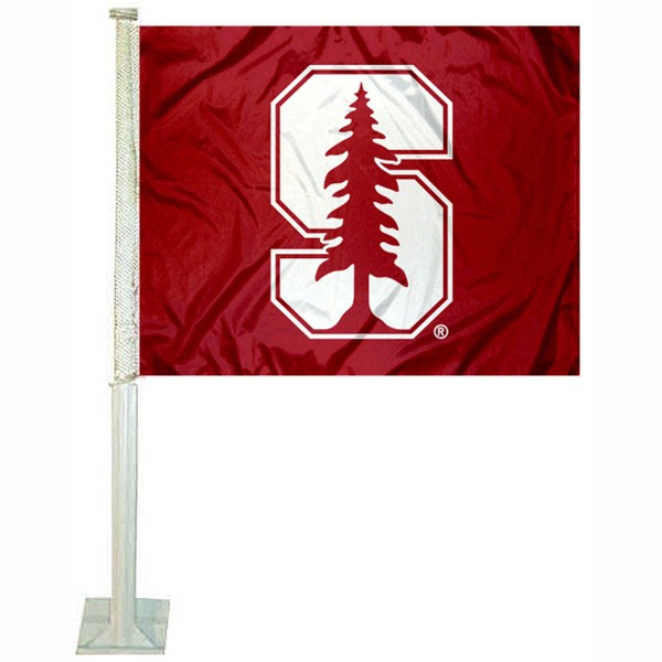 Stanford Cardinal Car Window Flag measures 12x15 inches, is constructed of sturdy 2 ply polyester, and has screen printed school logos which are readable and viewable correctly on both sides. Stanford Cardinal Car Window Flag is officially licensed by the NCAA and selected university.