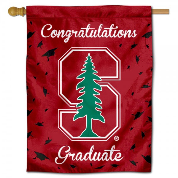 Stanford Cardinal Congratulations Graduate Flag measures 30x40 inches, is made of poly, has a top hanging sleeve, and offers dye sublimated Stanford Cardinal logos. This Decorative Stanford Cardinal Congratulations Graduate House Flag is officially licensed by the NCAA.
