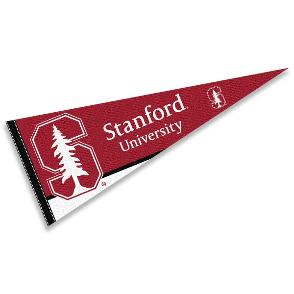 Stanford Cardinal Decorations consists of our full size pennant which measures 12x30 inches, is constructed of felt, is single sided imprinted, and offers a pennant sleeve for insertion of a pennant stick, if desired. This Stanford Cardinal Decorations is officially licensed by the selected university and the NCAA