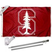 Stanford Cardinal Flag Pole and Bracket Kit