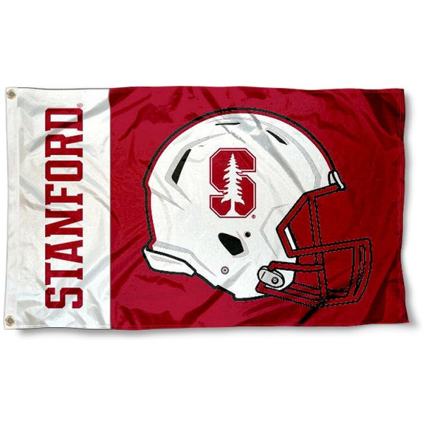 Stanford Cardinal Football Flag measures 3'x5', is made of 100% poly, has quadruple stitched sewing, two metal grommets, and has double sided Stanford Cardinal logos. Our Stanford Cardinal Football Flag is officially licensed by the selected university and the NCAA.